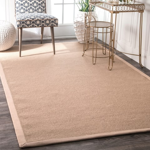 The Gray Barn Della Handmade Eco Natural Fiber Cotton Border Jute Area Rug