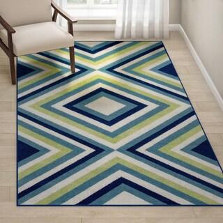 Havenside Home Rowayton Multicolor Indoor/Outdoor Area Rug - 5'3 x 7'6