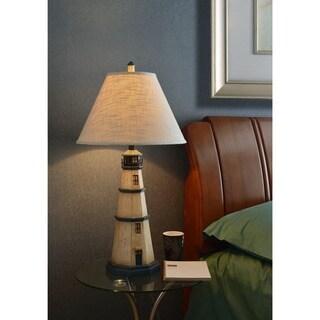 Havenside Home Stinson 1-light Antique White Table Lamp