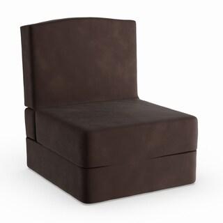 Porch & Den Riverfront Microfiber Suede Sleep Chair Bed