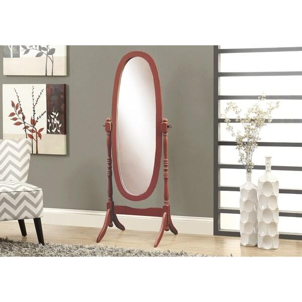 Copper Grove Rocky Mountain Cherry Oval Cheval Freestanding Mirror