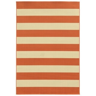Havenside Home Madisonville Indoor/ Outdoor Stripe Rug (5'3 x 7'6) - 5'3 x 7'6
