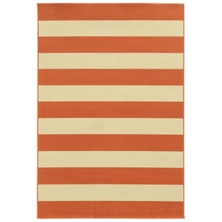 Havenside Home Madisonville Indoor/ Outdoor Stripe Rug (5'3 x 7'6)
