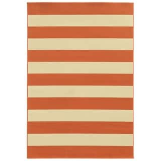 Havenside Home Madisonville Indoor Outdoor Stripe Rug 5 3 X
