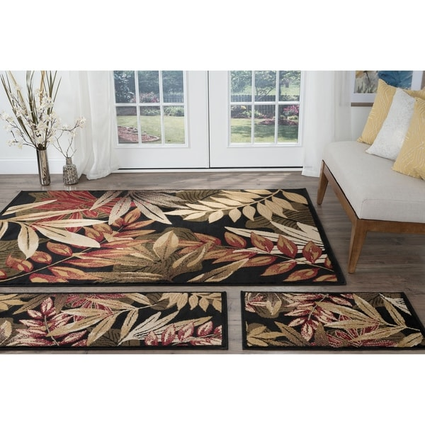 Havenside Home Maimi Black Transitional Area Rugs - 5' x 7'
