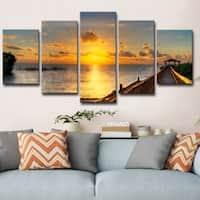 Copper Grove Key's Sunrise' 5-piece Set Canvas Wall Art by Bruce Bain