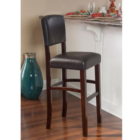 Copper Grove Amravati Vinyl Espresso Bar Stool