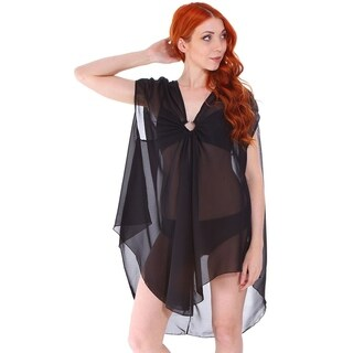 Women's Chiffon Plus Size Beach Swimwear Cover Up Dress for Pool