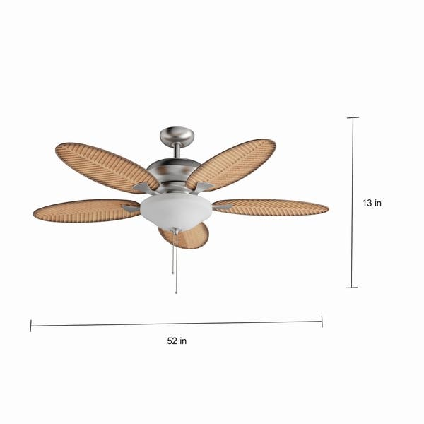 Brushed Nickel 52 Inch Ceiling Fan