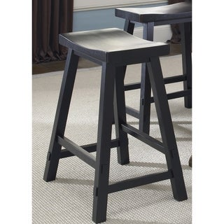 The Gray Barn Grove Black Sawhorse Barstool