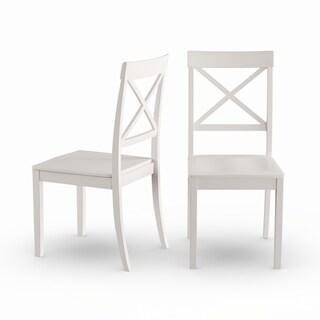 Copper Grove Cummins 2-piece X-back Wooden Dining Room Chair Set