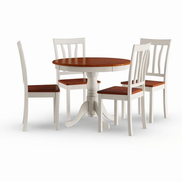Cherry Kitchen Table And Chairs: Shop Copper Grove Sedgman Buttermilk And Cherry Kitchen