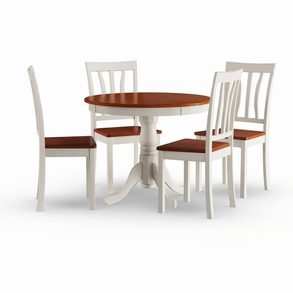 Copper Grove Sedgman Buttermilk and Cherry Kitchen Table and Chair 5-piece  Dining Set