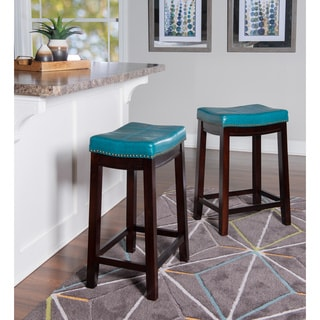 Shop Homepop Tufted Faux Leather 24 Quot Counter Stool On