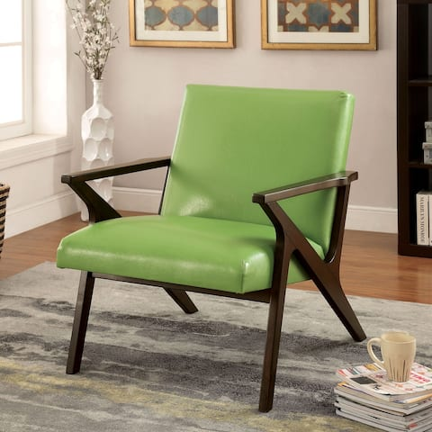 Furniture of America Krue Modern Faux Leather Padded Accent Chair