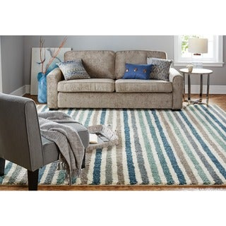 Porch & Den Matterhorn Stripe Blue Rug - 5' x 8'