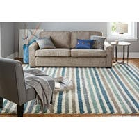 Havenside Home Orleans Stripe Blue Rug - 5' x 8'
