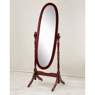 Copper Grove Monks Hood Traditional Queen Wooden Floor Cheval Mirror