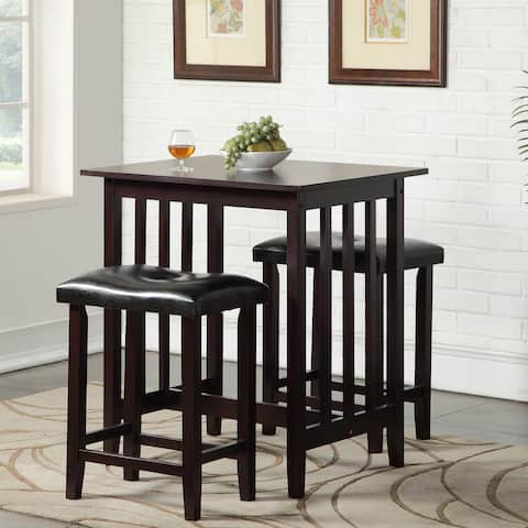 Copper Grove Willamette Counter Height Table with Saddleback Stools