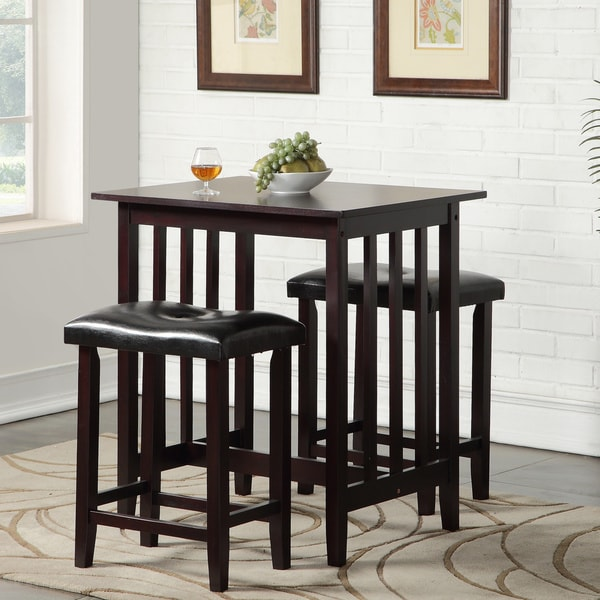 Copper Grove Willamette Counter Height Table with Saddleback Stools. Opens flyout.