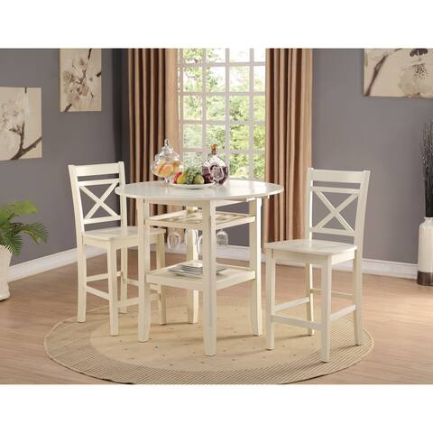 Copper Grove Canim 2-piece Cream Counter Height Chair Set