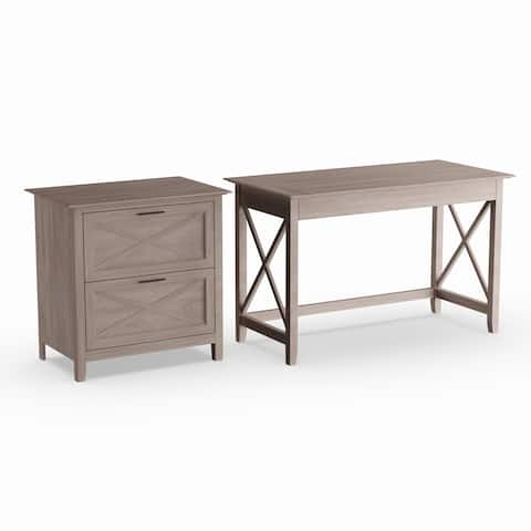 The Gray Barn Byrnes 48-inch Writing Desk with Lateral File
