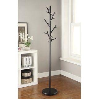 "Carbon Loft Kelford Black Metal Branch-style Coat Rack - 12"" x 12"" x 69.25"""