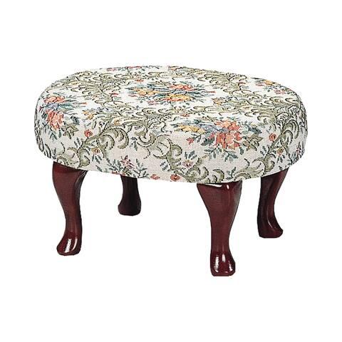 Copper Grove Willamette Upholstered Cherry Footstool