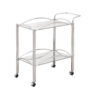 "Silver Orchid Olivia Chrome Serving Cart - 29.75"" x 14"" x 29.50"""