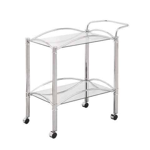 Silver Orchid Olivia Chrome Serving Cart