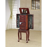 Copper Grove Bulkley Cherry Queen Anne Jewelry Armoire