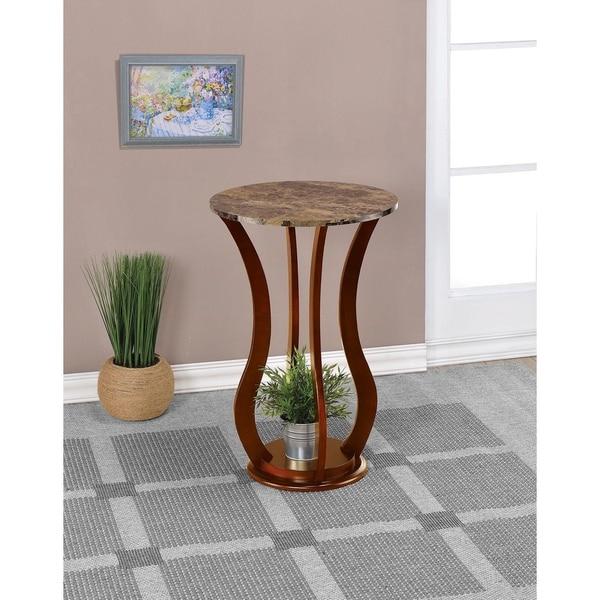 """Copper Grove Aubreita Wavy Wooden Plant Stand - 28.50"""" x 18"""""""