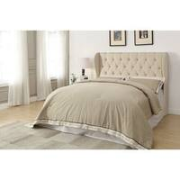 Copper Grove Ausable Beige Upholstered Headboard