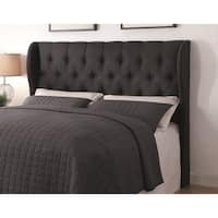 Gracewood Hollow Vidal Grey Upholstered Tufted Headboard