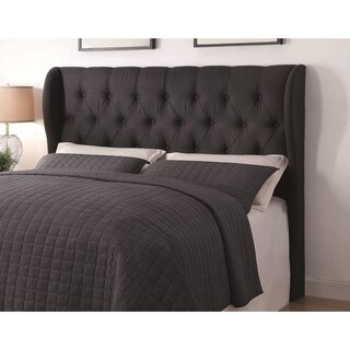 Gracewood Hollow Vidal Grey Upholstered Tufted Headboard (2 options available)