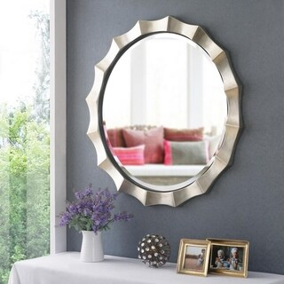 "Strick & Bolton Loring Wall Mirror - 34"" Dia."