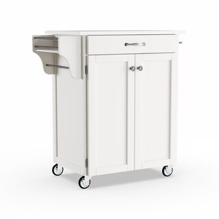 Copper Grove Pinehurst White Finish Cuisine Cart