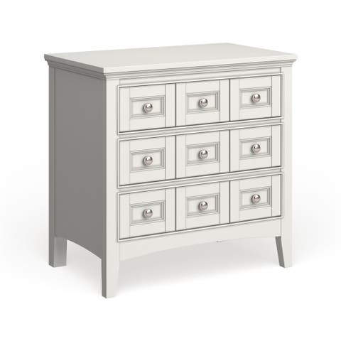 Copper Grove Beaudry White Wood Three-drawer Nightstand