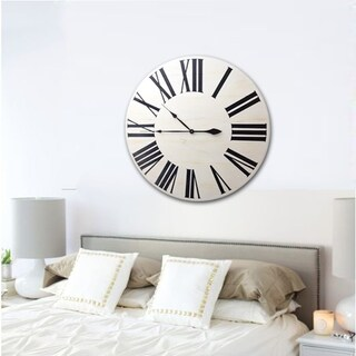 The Gray Barn Pitchfork White Wood Farmhouse Clock