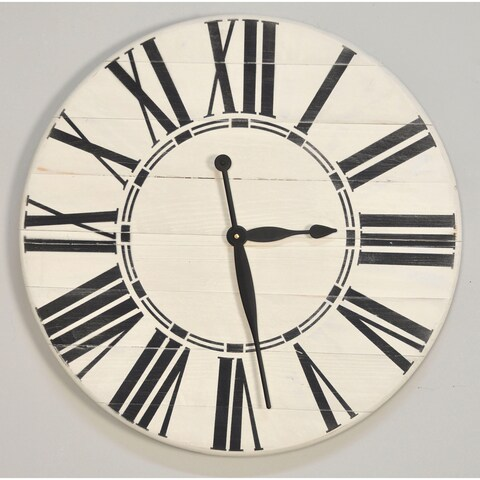 Havenside Home Oak Bluffs White Oversized Wall Clock