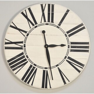 Havenside Home Oak Bluffs White Oversized Wall Clock (3 options available)