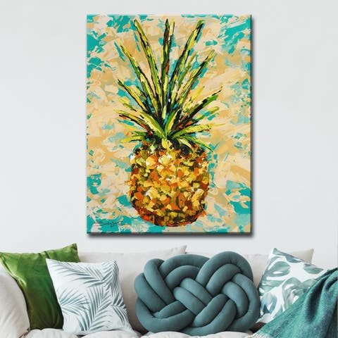 The Curated Nomad Pineapple' Canvas