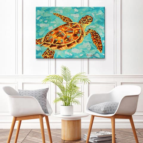 The Curated Nomad Turtle' Canvas