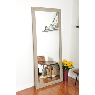 The Gray Barn Wilset White Washed Floor Mirror