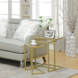 Silver Orchid Parker Nesting Tables (Set of 3)