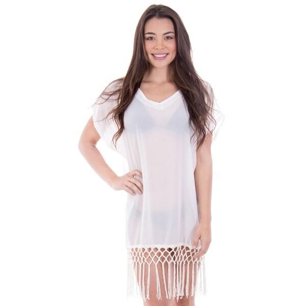 02f26516d2 Shop Womens Sexy Crochet Hollow Out Cover-ups Beachwear Beach Dress ...