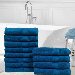 Casa Platino Cotton Zero Twist Hand Towels-12 Pack