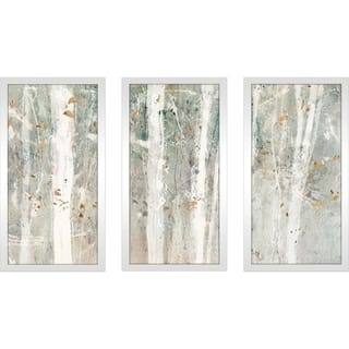 "Lisa Audit ""A Woodland Walk II"" Framed Plexiglass Wall Art Set of 3"