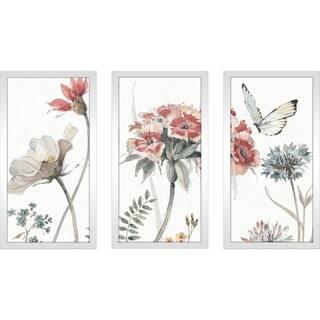 """Lisa Audit """"A Country Weekend III"""" Framed Plexiglass Wall Art Set of 3"""