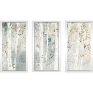 "Lisa Audit ""A Woodland Walk III"" Framed Plexiglass Wall Art Set of 3"